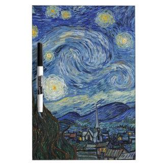 Tableau Effaçable À Sec Vincent van Gogh | la nuit étoilée, juin 1889