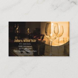 Tableau En Verre De Vin Carte Visite