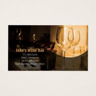 Tableau en verre de vin de carte de visite de