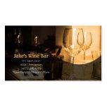 Tableau en verre de vin de carte de visite de barr
