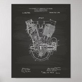 Tableau interne de brevet du moteur à combustion