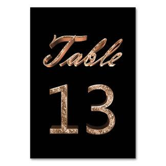 Tableau noir chic élégant numéro 13 de partie d'or