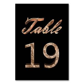 Tableau noir chic élégant numéro 19 de partie d'or