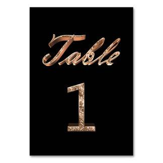 Tableau noir chic élégant numéro 1 de partie d'or