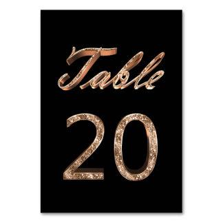 Tableau noir chic élégant numéro 20 de partie d'or