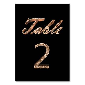 Tableau noir chic élégant numéro 2 de partie d'or