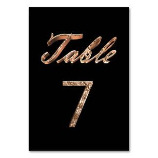 Tableau noir chic élégant numéro 7 de partie d'or