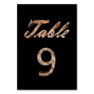 Tableau noir chic élégant numéro 9 de partie d'or
