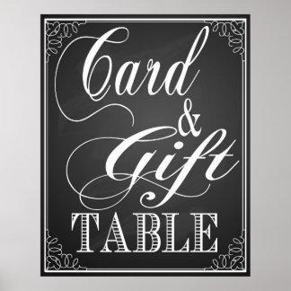 Tableau noir de signe de mariage de cadeau et de affiche