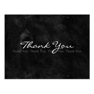 Tableau noir noir et blanc simple de Merci Cartes Postales