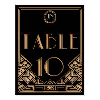 Tableau noir numéro 10 de style de Gatsby d'art dé Cartes Postales