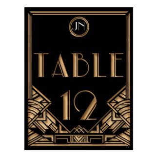 Tableau noir numéro 12 de style de Gatsby d'art Carte Postale