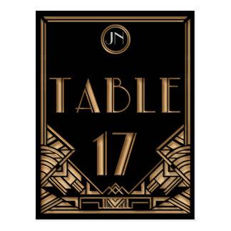 Tableau noir numéro 17 de style de Gatsby d'art Carte Postale