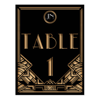 Tableau noir numéro 1 de style de Gatsby d'art Carte Postale