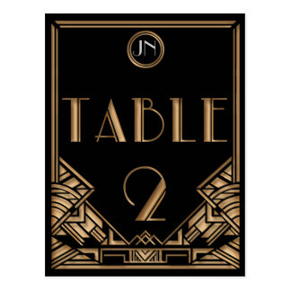 Tableau noir numéro 2 de style de Gatsby d'art Carte Postale