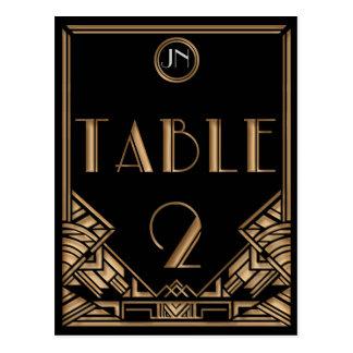 Tableau noir numéro 2 de style de Gatsby d'art déc Carte Postale
