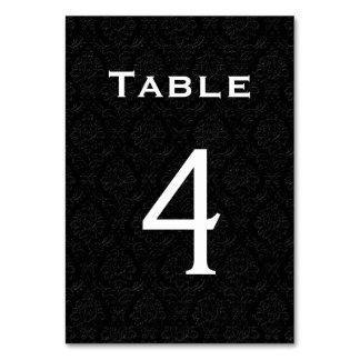 Tableau noir numéro 4 de mariage damassé