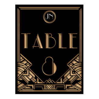 Tableau noir numéro 8 de style de Gatsby d'art Cartes Postales