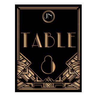 Tableau noir numéro 8 de style de Gatsby d'art déc Cartes Postales