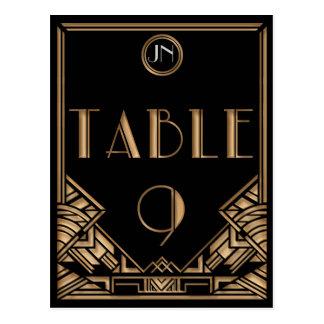 Tableau noir numéro 9 de style de Gatsby d'art déc Cartes Postales