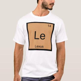 Tableau périodique d'élément nommé de chimie de t-shirt