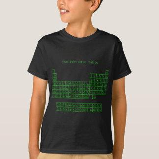 Tableau périodique vert au néon t-shirt