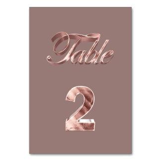 Tableau rose chic élégant numéro 2 d'invités de