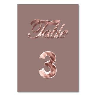 Tableau rose chic élégant numéro 3 d'invités de
