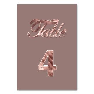 Tableau rose chic élégant numéro 4 d'invités de