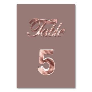 Tableau rose chic élégant numéro 5 d'invités de