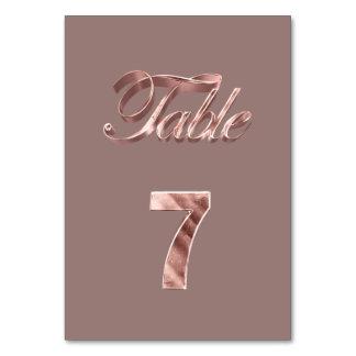 Tableau rose chic élégant numéro 7 d'invités de