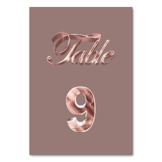Tableau rose chic élégant numéro 9 d'invités de