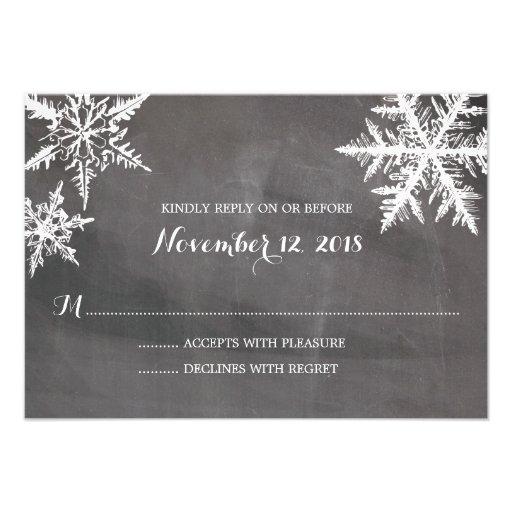 Tableau | RSVP l'épousant de flocons de neige de Cartons D'invitation