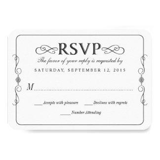 Tableau rustique de pays épousant RSVP Carton D'invitation 8,89 Cm X 12,70 Cm