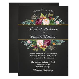 Tableau rustique et mariage floral carton d'invitation  12,7 cm x 17,78 cm