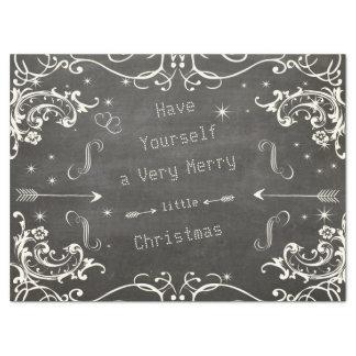 Tableau un Joyeux petit Noël Papier Mousseline