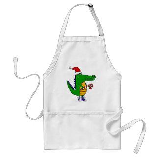 Tablier Alligator mignon dans la bande dessinée de Noël de