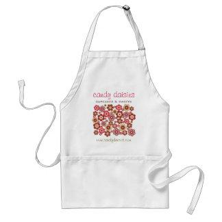 Tablier Amusement Girly de motif de sucrerie de fleurs
