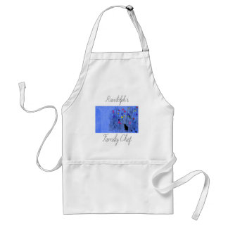 Tablier Apron_Family Chef_Flowers-Cat_Name_Template