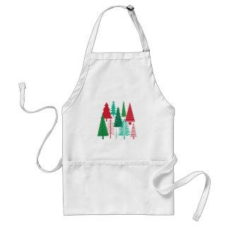 Tablier arbres de Noël contemporains modernes