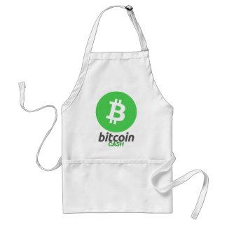 Tablier Argent liquide de Bitcoin - Cryptocurrency