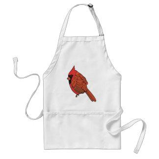 Tablier Art cardinal d'oiseau