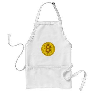 Tablier Art de griffonnage de Bitcoin