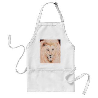 Tablier Art fort d'huile de portrait de lion