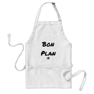Tablier BON PLAN - Jeux de mots - Francois Ville