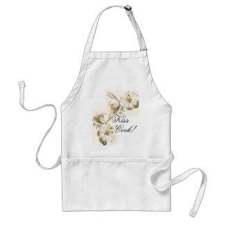 Tablier botanique vintage de baiser/cuisinier de f