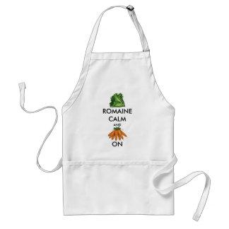 Tablier Calme et carotte de Romaine (laitue) dessus