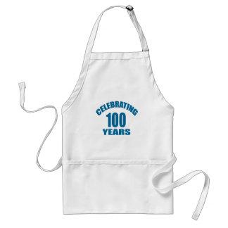 Tablier Célébrant 100 ans de conceptions d'anniversaire