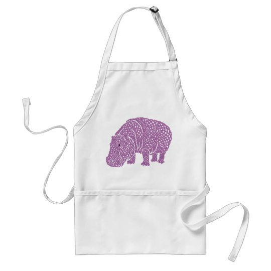 Tablier Celtic Knotwork hippo apron.