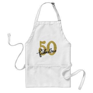 Tablier cinquantième Blanc noir | 50 élégants d'or